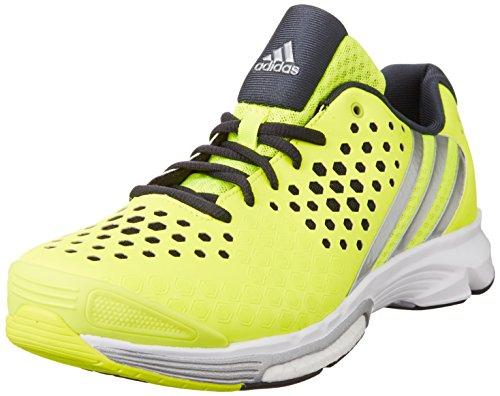 adidas Volley Response Boost - Zapatillas Deportivas para Hombre, Color Lima/Plata/Negro, Talla 42 2/3