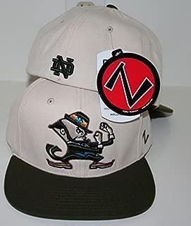 Zephyr NCAA Notre Dame Fighting Irish Logo 2 Tone Khaki Flex Fitted Hat Size M / L Cap
