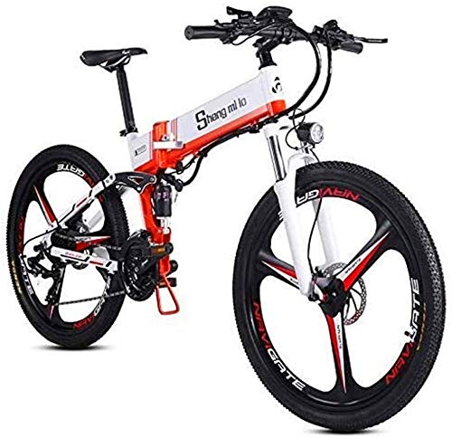 Erik Xian Electric Bike Electric Mountain Bike, Fast Electric Bikes for Adults 26 Inch Folding Electric Mountain Bike Bicycle Electric for The Jungle Trails, The Snow, The Beach