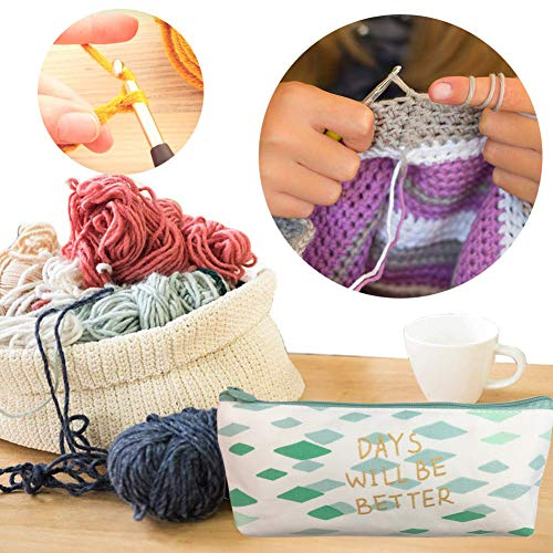 Latest Set of 27 PCS Ergonomic Crochet Hooks Set with Case Extra Long Soft Grip Handles Crochet Hook Needles for Arthritic Hands,Standard US Size B(2MM)-J(6MM)
