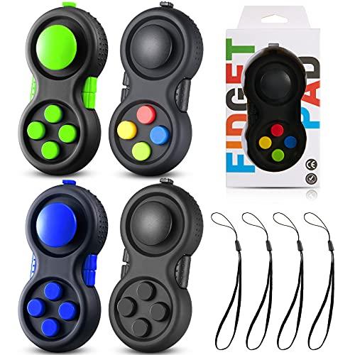 Skylety 4 Pieces Cam Fidget Controller Pad Relieve Fidget Toy Anxiety...