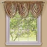 Achim Home Furnishings Ombre Waterfall Window Curtain Valance, 46' x 42', Sandstone