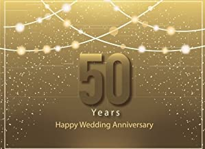 50 Years Happy Wedding Anniversary: Guest Book for 50th Wedding Anniversary, Golden Wedding Ring, Gift for Couples (Volume 2)