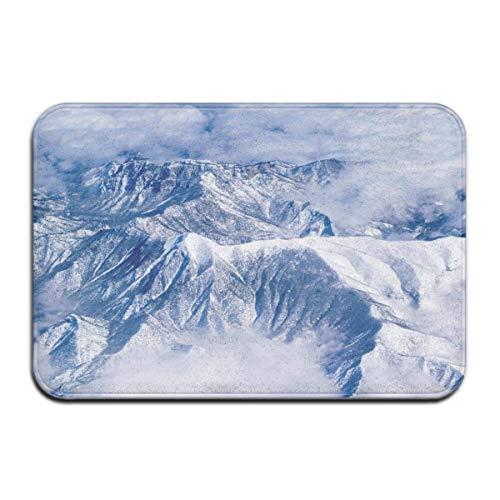 Snow Cap Mountains Peaks Outdoor Mat Front Door Mats Entry Carpet Standard Rug