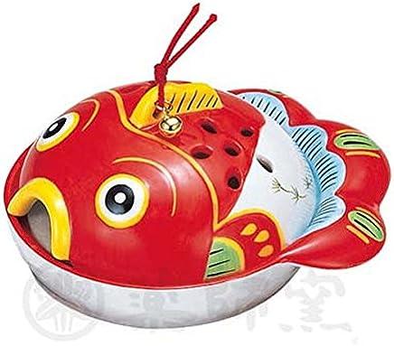 蚊香器 金鱼蚊香(平型) [陶 器] [高 8 x 宽17cm] 纳凉 室内装饰 可爱 凉爽 夏天