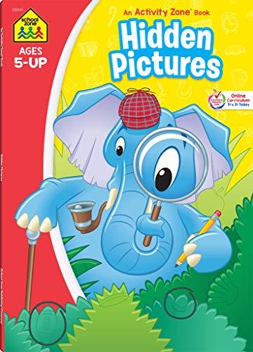 School Zone - Hidden Pictures Workbook - 96 Pages, Ages 5 and Up, Kindergarten, 1st Grade, Search & Find, Picture Puzzles, Hidden Objects, and More (School Zone Activity Zone® Workbook Series)