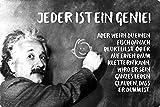 Cartel de metal de 20 x 30 cm, con texto en alemán 'Jeder ist ein Genie Einstein