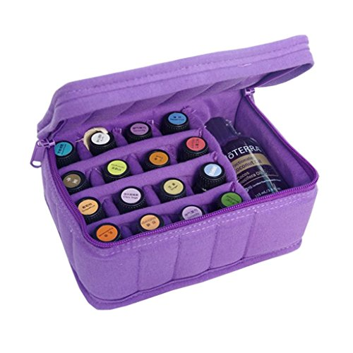 Sac de stockage d'huile essentielle, boîte de stockage d'huile essentielle boîte de stockage d'huile essentielle portable 17 grille de manutention d'huile sac portable antichoc voyage portable sac de