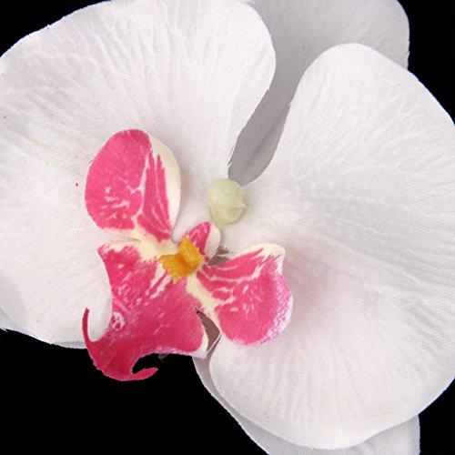 Baoblaze 20 Stück künstliche Orchideenblüten Blüte Orchidee Streublumen Streudeko Deko - Weiß, 9cm