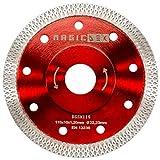 MAGICDSK DSSX115 Disco diamantato turbo sottile professionale, rinforzato, Ø 115 mm, foro 22,23 mm, taglio a secco: gres porcellanato, graniti duri, ceramica, quarzite