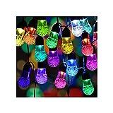 Guirnaldas Luminosas Cadena De Luz Solar Al Aire Libre,30 Luces LED Son Impermeables,8 Modos De Iluminación Son Adecuados para Balcón Terraza Pérgola del Jardín De Pub,6 M / 19,6 (Color:Multicolor)