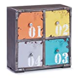 Zeller, Scarpiera Loft, 4 cassetti 13984 MDF 265 x 13 x 275 cm, Multicolore (Mehrfarbig)