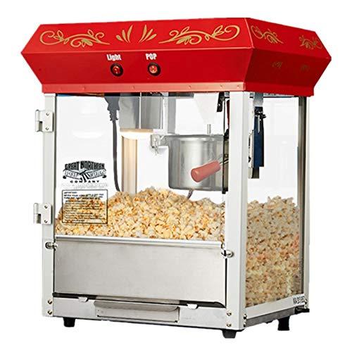 Commerciële popcornmachine van roestvrij staal, gehard glas met 680 W popcorn en ingebouwde lichte teflon antiaanbaklaag/korte opwarmtijd