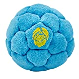 Bigfoot: Hacky Sack / Footbag | No-Bust Stitching for Hard Kicking | 32 Panel Symmetry for Balance, Tricks, Stalling | Professionally Hand-Stitched with Suede Material - Blue, Sand Fill