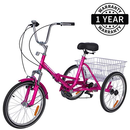 MOPHOTO Adult Tricycles folding bike