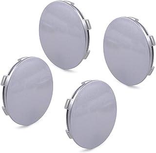 LETAOSK 4 Stück Auto Kunststoff Silbergrau 6 Zähne 62mm(57.5mm) Radfelge Mitte Nabenkappe Abdeckung