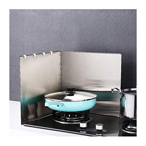 Multiusos anti salpicadura escudo protector de aceite salpicadura de aceite tablero de pantalla de acero inoxidable barrera de aceite a prueba de aceite Herramienta de cocina para cocinar, plata