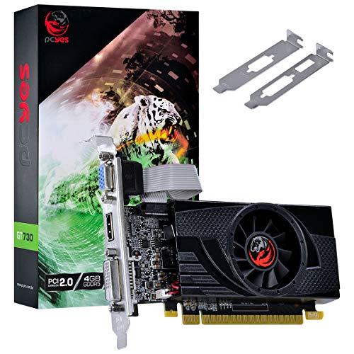 PLACA DE VIDEO NVIDIA GEFORCE GT 730 GDDR5 4GB 64BITS LOW PROFILE COM KIT INCLUSO - PA7304DR564LP - PCYes