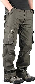 Hilarocky カーゴパンツ メンズ 作業ズボン ワークパンツ ゆったり 大きいサイズ 多機能 ロングパンツ 綿 無地