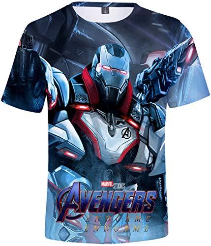 PANOZON Homme Manches Courtes Avengers 4 Endgame Superhero Hoodie Sweat à Capuche Style Classique imprimé en 3D(92 Argent-1,XL)