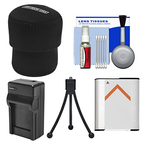 Essentials Bundle for Sony Cyber-Shot DSC-QX30 & DSC-QX100 Smartphone Attachable Lens-Style Camera with Case + NP-BN1 Battery & Charger + Flex Tripod Kit