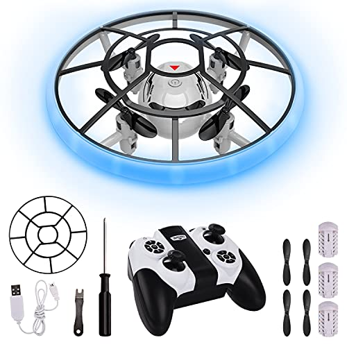 Ulikey Mini Drone para Niños, UFO Mini Drone con Control Remoto, Juguetes Voladores Controlados a Mano con Luces LED, Altitud Hold y Headless Modo, RC Helicopteros Teledirigidos para Niños Regalos