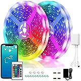 TTNAO LED-Lichtleiste 10m, Geeignet für Party Familie Küche Schlafzimmer TV RGB Farbwechsel Smart WiFi APP-Steuerung Musiksynchronisationslichtleiste,Fernbedienung mit 24 Tasten Haus Dekoration