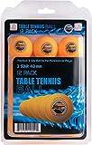 Balles de ping pong tennis de table Sportly, balles de régulations avancées d'entraînement 40 mm 3étoiles, Orange