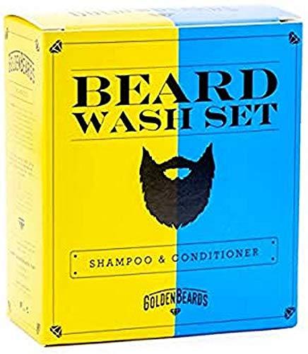 Golden Beards Shampoo Da Barba E Bálsamo Kit. La Combinazione Perfetta - 2 confezioni da 480 Gr