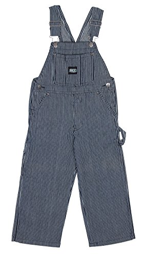 Key Industries - Kinder-Latzhose - Hickory-Streifen Kinder Latzhosen Jeans latzh KID009-Age 5
