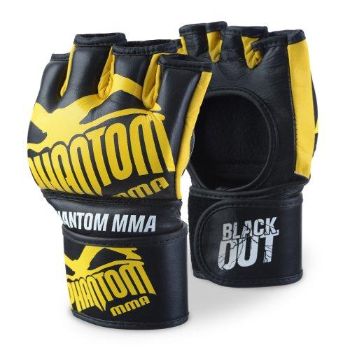 Phantom phmmagblacko-sy Blackout MMA Handschuhe–, schwarz/gelb