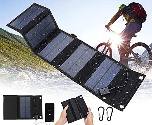 WFEI Panel Solar Plegable Impermeable 5V Células De Los Paneles Solares Plegables para El Cargador De Batería del Teléfono Inteligente 25W