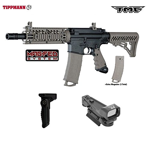 Tippmann TMC MAGFED Paintball Gun Tactical Package - Black/Tan