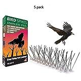 50 Cm Trampa para pájaros Respetuoso del medio ambiente de acero inoxidable A prueba de pájaros Oreja de palomas Para deshacerse de la paloma Control de plagas de aves 5 Orejas de pájaros