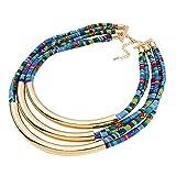 Anday Lady Nueva étnico de moda multilayers aleación de cuerda collar...