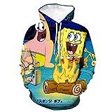 Nouxh Kapuzenpullover Kapuzenjacke Unisex 3D Druck Hoodie Sweatshirt Anime Pullover Cosplay Hip Hop Kapuzenpulli Langarm Kapuzenpullover Tops Fleece Hoodies Spongebob Squarepants