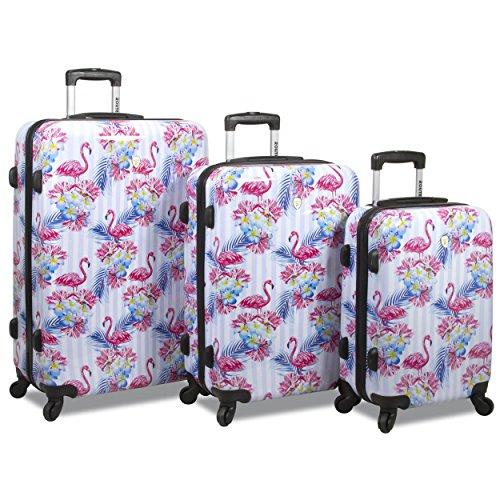 Rolite Flamingo 3-piece Hardside Spinner Combination Lock Luggage Set, One Size