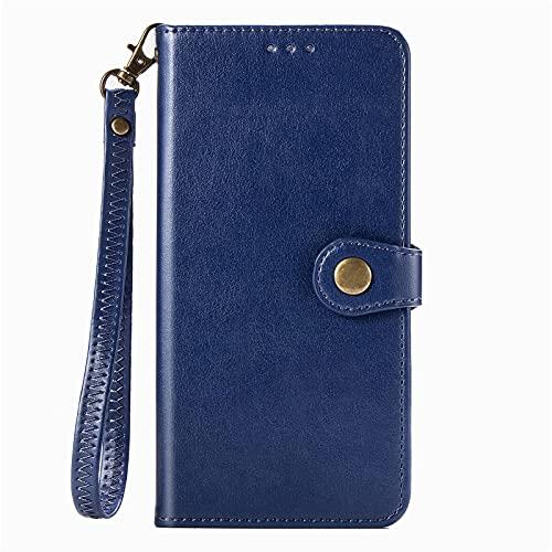 BAILI Funda para LG W41,Ranura para Tarjeta,Soporte Plegable,Funda Tapa Libro Flip Phone Cover Case para LG W41,Azul