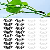 YouPro 100 Pieces 90 Degree Plant Bender Clips, PVC Plastic Plant Trainers Bending Clips Twig Clamps Plant Branches Bender for Garden Plant Supporting Low Stress