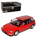 PremiumX Hon-da Civic EF-9 SI Rot 3 Türer 4. Generation 1987-1991 Triple 9 1/18 Modell Auto