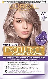 L'Oréal Paris L'Oréal Paris Excellence Cool Creme Tinte Permanente, Tono 8.11 Rubio Claro Ceniza 260 g