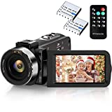 Video Camera Camcorder Weton 2.7K Full HD Digital YouTube Vlogging Camera 30MP IR Night Vision Digital Recorder 3.0 Inch 270 Degree Rotation Screen 16X Digital Zoom Camcorders with 2 Batteries