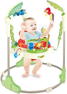 COOLBABY,Baby tropical rain forest jump chair light music fitness rack multifunctional baby educational early education sw...
