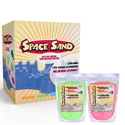 Space Sand 1.8 kg con 50 Piezas de Formas, números, Letras,