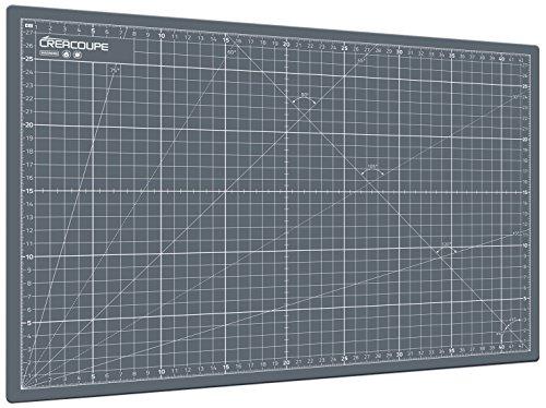 Tapis de découpe auto-cicatrisant GRIS 90x60cm (A1), gradué en CM, surface matte antidérapante - planche de découpe pour couture,patchwork,cutter rotatif