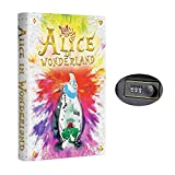 Real Pages Portable Diversion Book Safe - Hollowed Out Book with Hidden Secret Compartment for Jewelry, Money and Cash (Alice in Wonderland) (Large, Combination Lock)