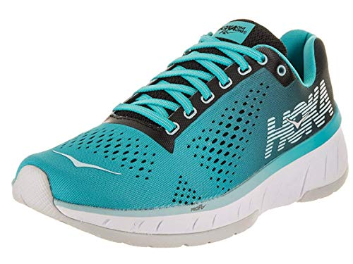 HOKA ONE ONE Women's Cavu Running Shoe, Black/Bluebird, Size 5.5