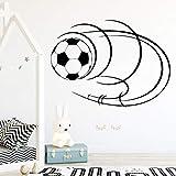 Nuevo fútbol Pegatinas de Pared Arte Mural decoración del Dormitorio del hogar para los niños decoración de la habitación de fútbol Papel Pintado Impermeable dekoration 58x42 cm