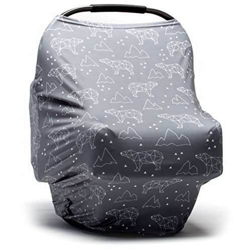 Moody Park Baby - Baby Car Seat Covers and Nursing Cover (Arctic Bears Print), Car Seat Covers for...