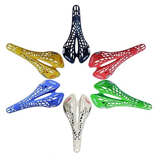 AYGANG Sillines de Bicicleta de montaña Súper Ligero de plástico Agentes fábrica de Bicicletas de Saddle Mountain Bike MTB Silla Cojín de PVC de 6 Colores 289 (Color : Green)